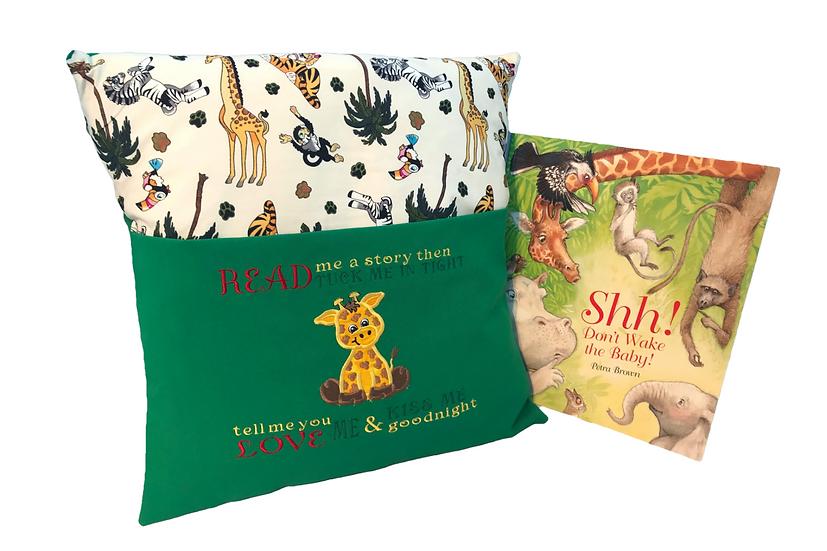 Giraffe Zoo Themed Book Cushion