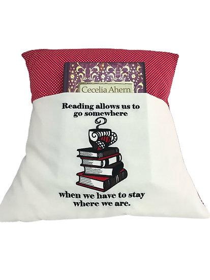 Red & White Spot Book Cushion