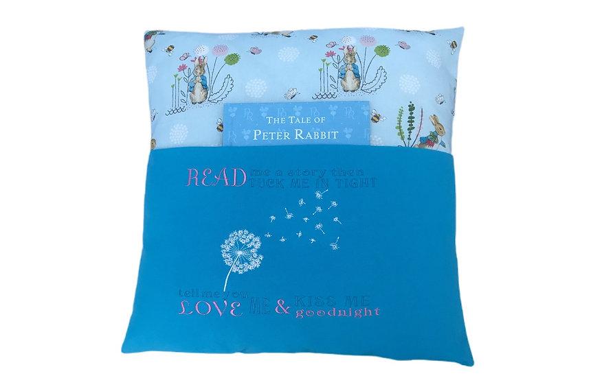 Peter Rabbit Themed Book Cushion
