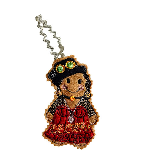Steam Punk Lady Gingerbread Decoration