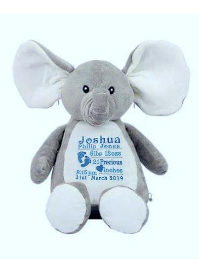 Elephant Personalised Soft Toy