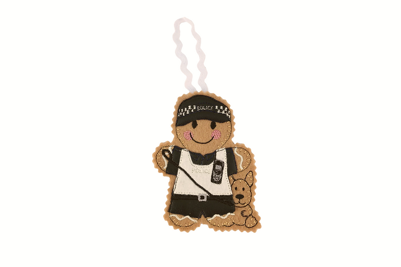 Police Dog Handler Gingerbread Decoration
