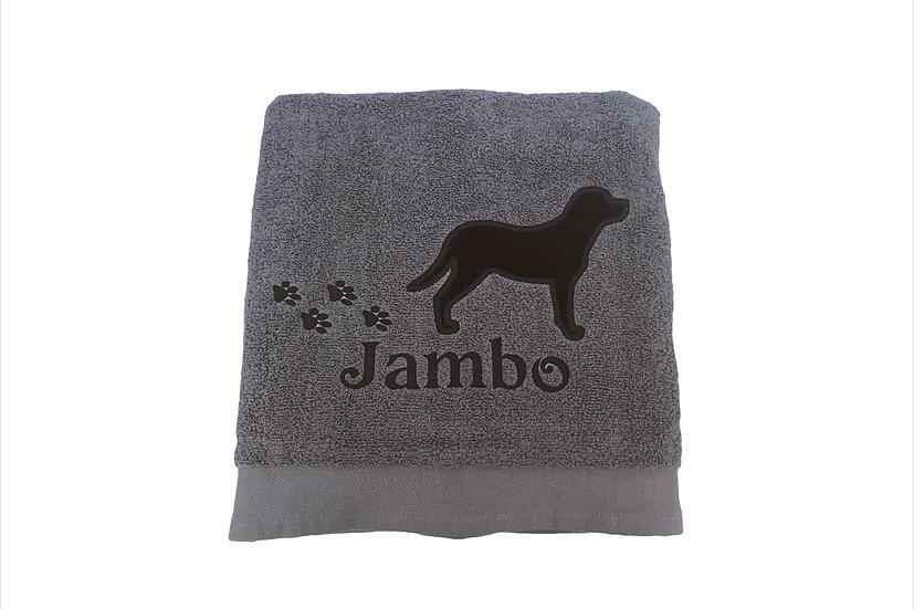 Labrador Personalised Dog Towel, Yellow Labrador Gift, Chocolate Lab, Black Lab