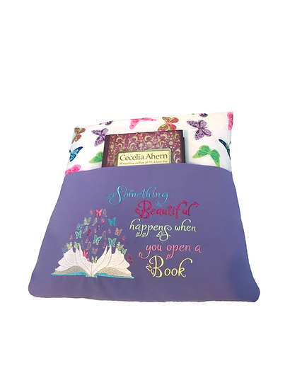 Purple Butterfly Book Cushion