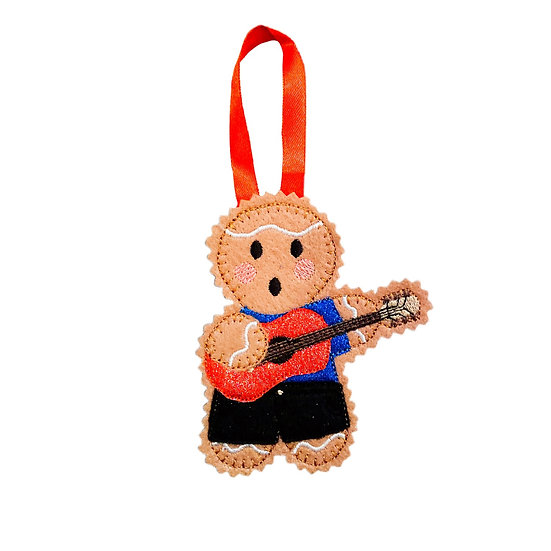 Gingerbread Guitar Player Decoration