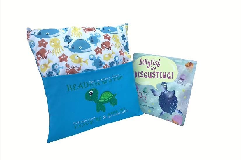 Turtle Themed Reading Book Cushion