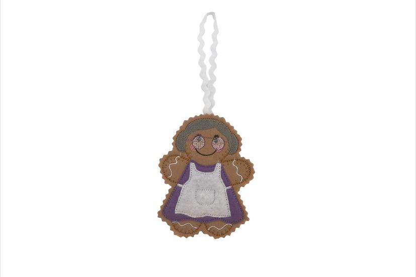 Grandma / Nan / Nanny Gingerbread Decoration