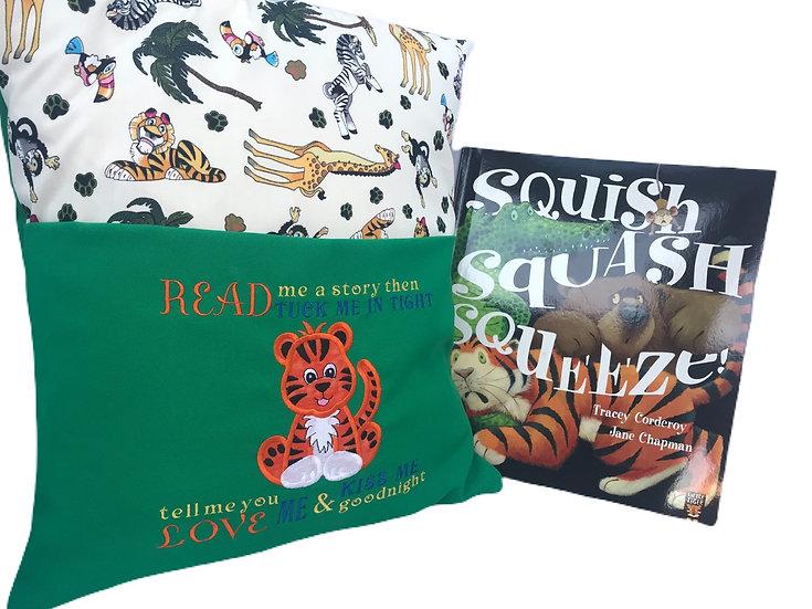 Tiger Zoo/Safari Themed Book Cushion