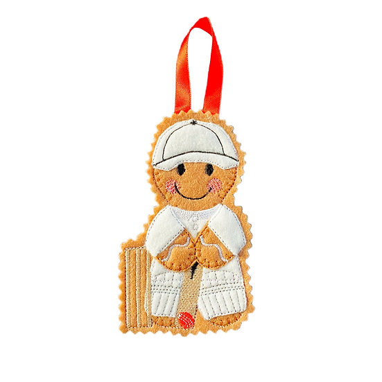 Cricket Player Gingerbread Decoration