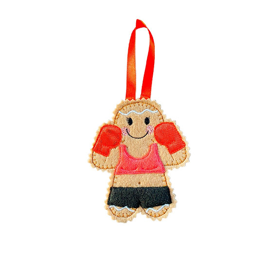 Boxer Gingerbread Decoration - Female