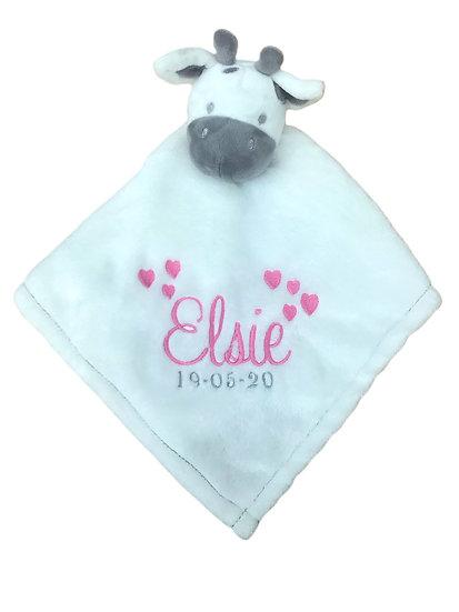 Giraffe Comforter / Personalised Keepsake / Newborn Baby Gift / Baby Shower