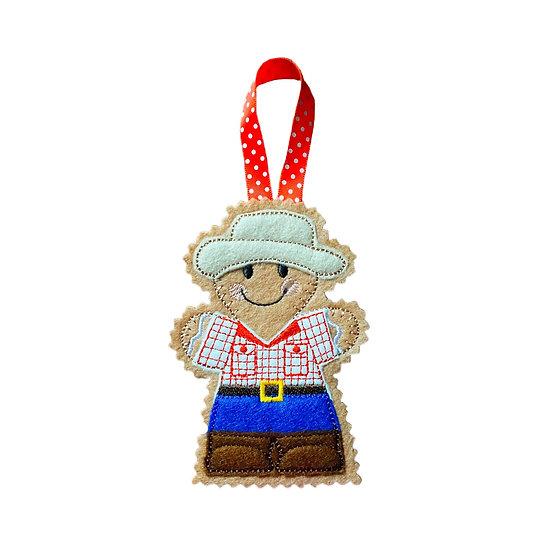 Cowboy Gingerbread Decoration