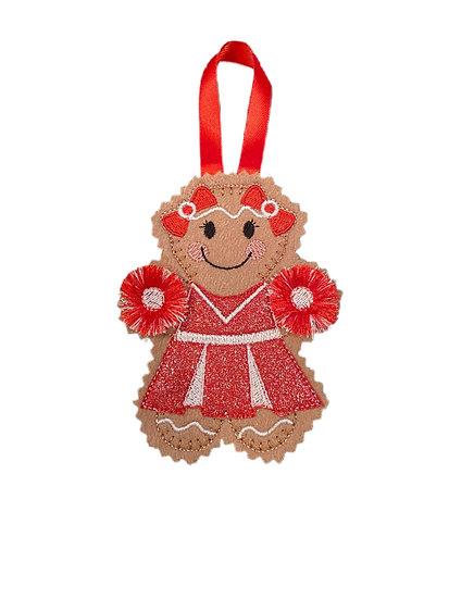 Cheerleader Gingerbread Decoration