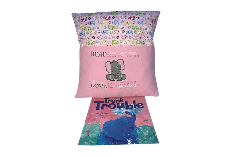 Elephant Themed Book Cushion