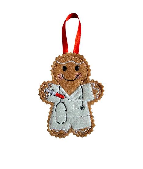 Phlebotomist Gingerbread Decoration