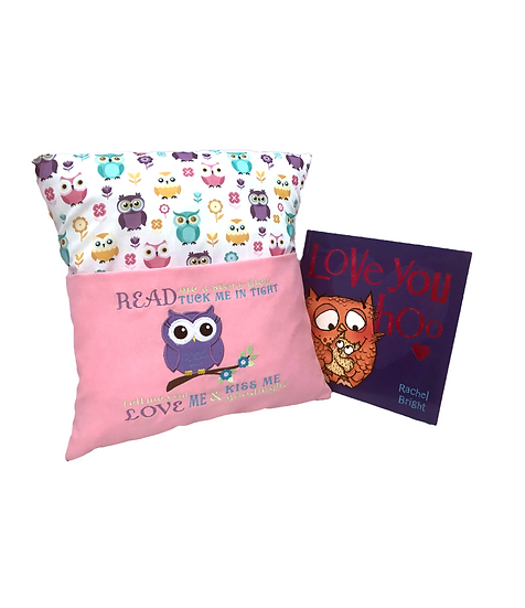 Pink Owl Themed Book Cushion