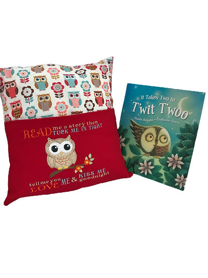 Owl Woodland Themed Book Cushion