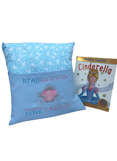 Cinderella Themed Book Cushion