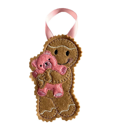 Baby Girl Teddy Gingerbread Decoration