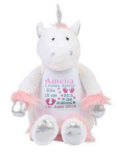 Unicorn Personalised Soft Toy