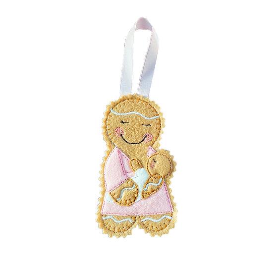 New Mum / Breast Feeding Gingerbread Decoration