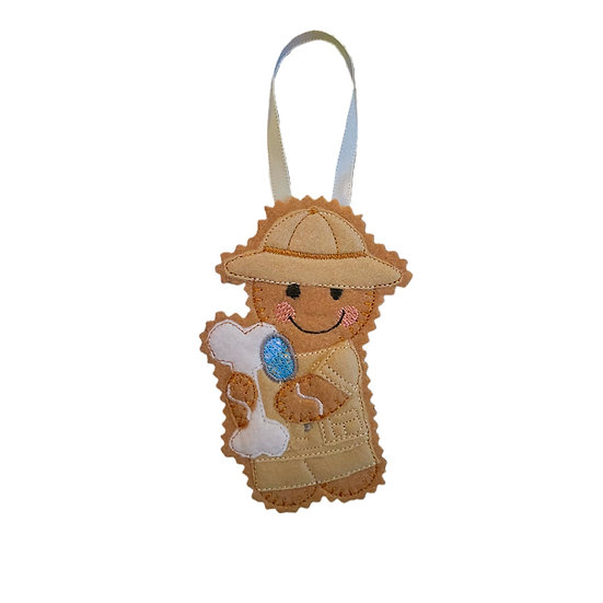Archaeologist / fossil hunter Gingerbread Decoration