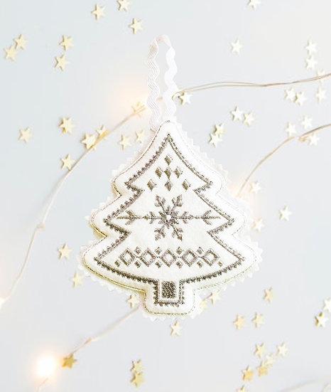 Silver Felt Christmas Tree  Decoration