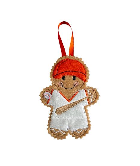 Baseball Player Gingerbread Decoration