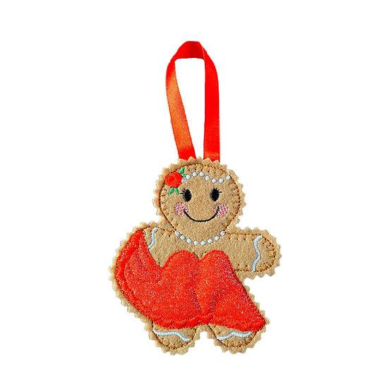 Lady Ballroom Dancer Gingerbread Decoration