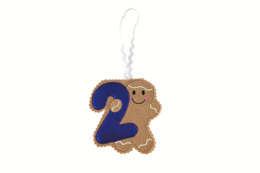 Age 2 / Number 2 Gingerbread Decoration