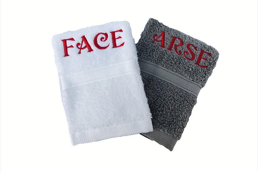 Novelty Face Cloths / Flannels embroidered naughty rude stag/hen dos