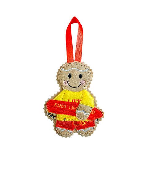 Lifeguard Gingerbread Decoration