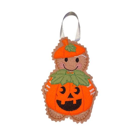 Pumpkin Dress Up Gingerbread Decoration