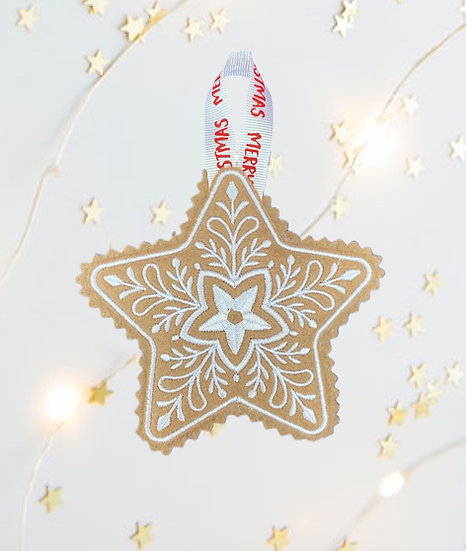 Cookie Star Felt Christmas Tree Decoration