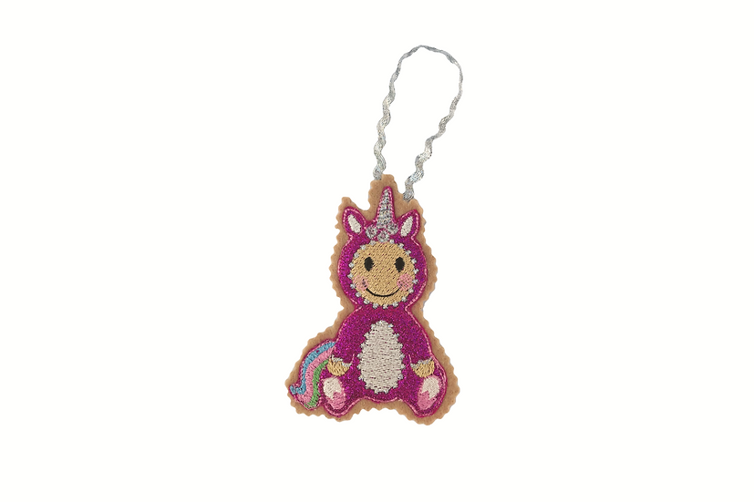 Pink Unicorn Gingerbread Decoration