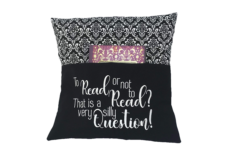 Vintage Damask Shakespeare Themed Quote Book Cushion