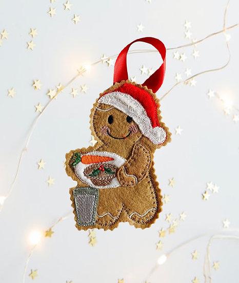 Santa's Plate Gingerbread Christmas Decoration
