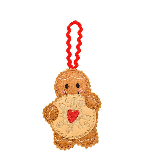 Jammie Dodger Gingerbread Decoration