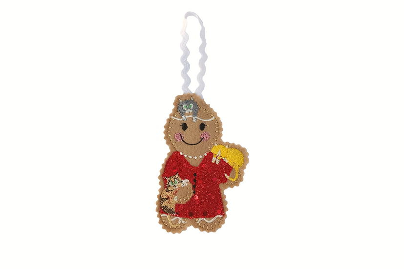 Cat Lady Gingerbread Decoration