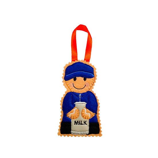 Dairy Farmer Gingerbread Decoration