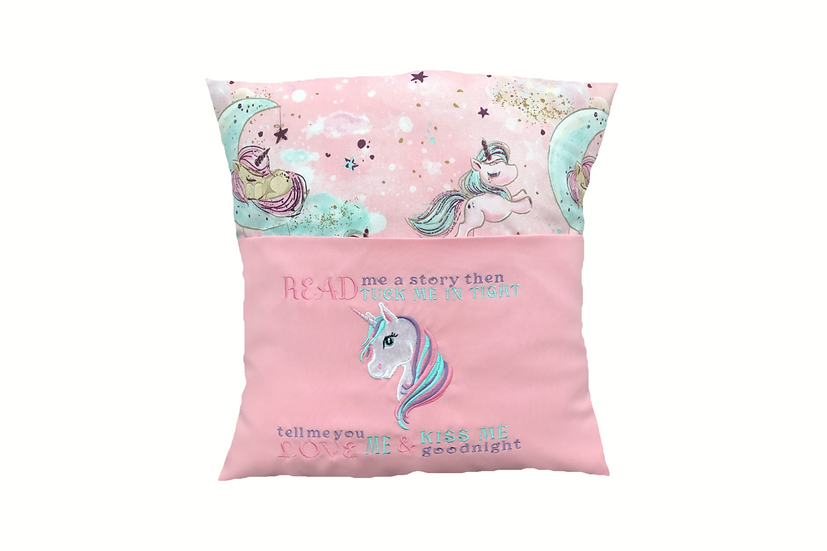 Unicorn Themed Reading Book Cushion