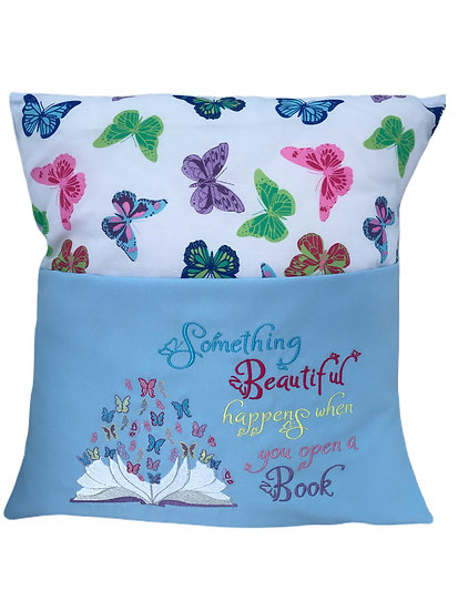 Blue Butterfly Book Cushion