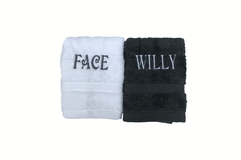 Novelty Face Cloths / Flannels embroidered naughty rude stocking filler stag do
