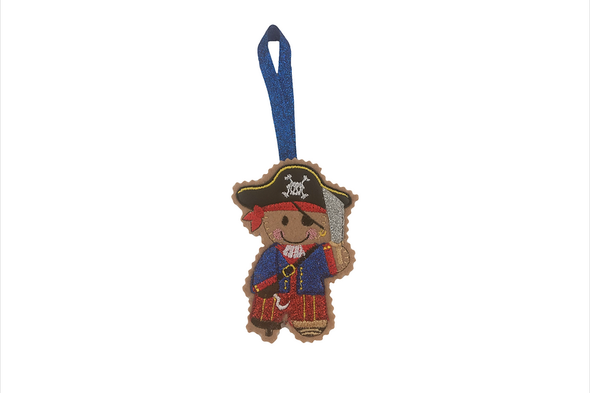 Pirate Captain Hook Gingerbread Decoration
