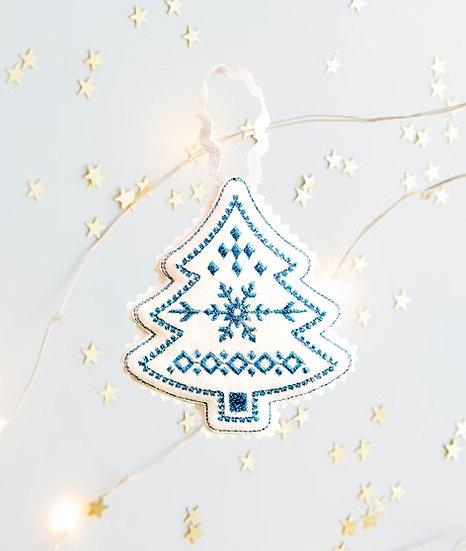 Blue Felt Christmas Tree  Decoration