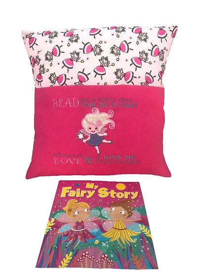 Pink Fairy Themed Book Cushion