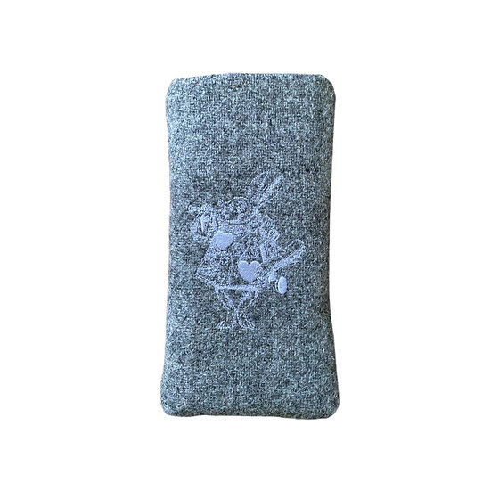 Harris Tweed White Rabbit Glasses Case