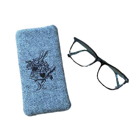 Harris Tweed White Rabbit Glasses Case