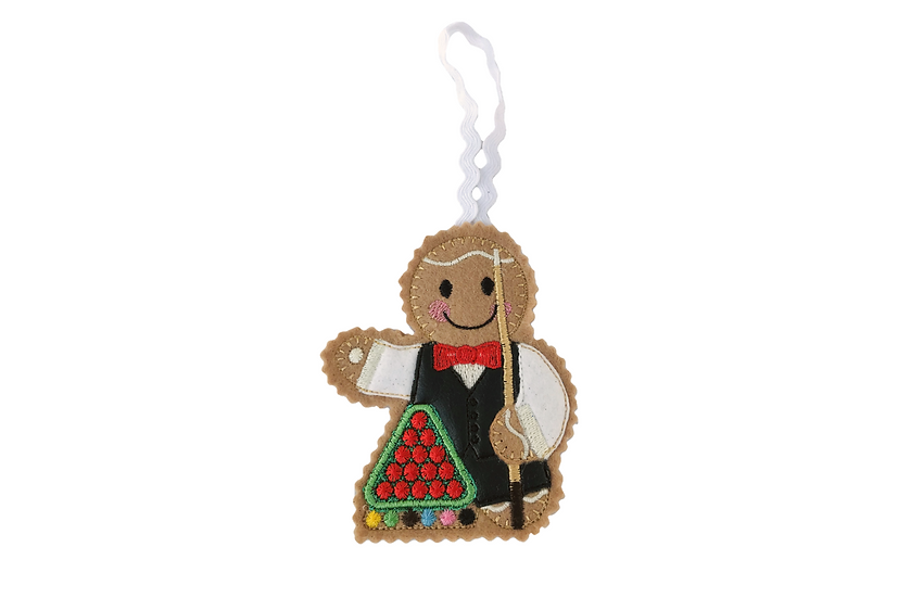 Snooker Player Gingerbread Decoration
