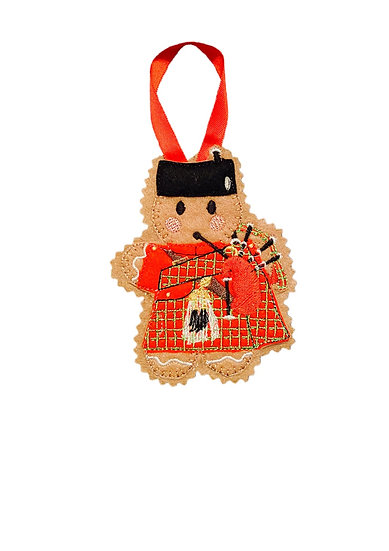 Scottish Bag Pipes Gingerbread Decoration